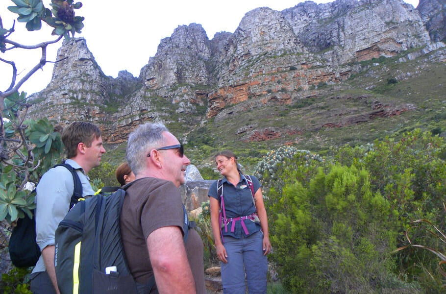 Hiking up the Twelve Apostles to Table Mountain, Cape Town