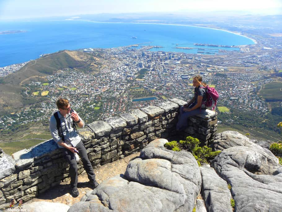 views of city bowl from table mountain, cape town