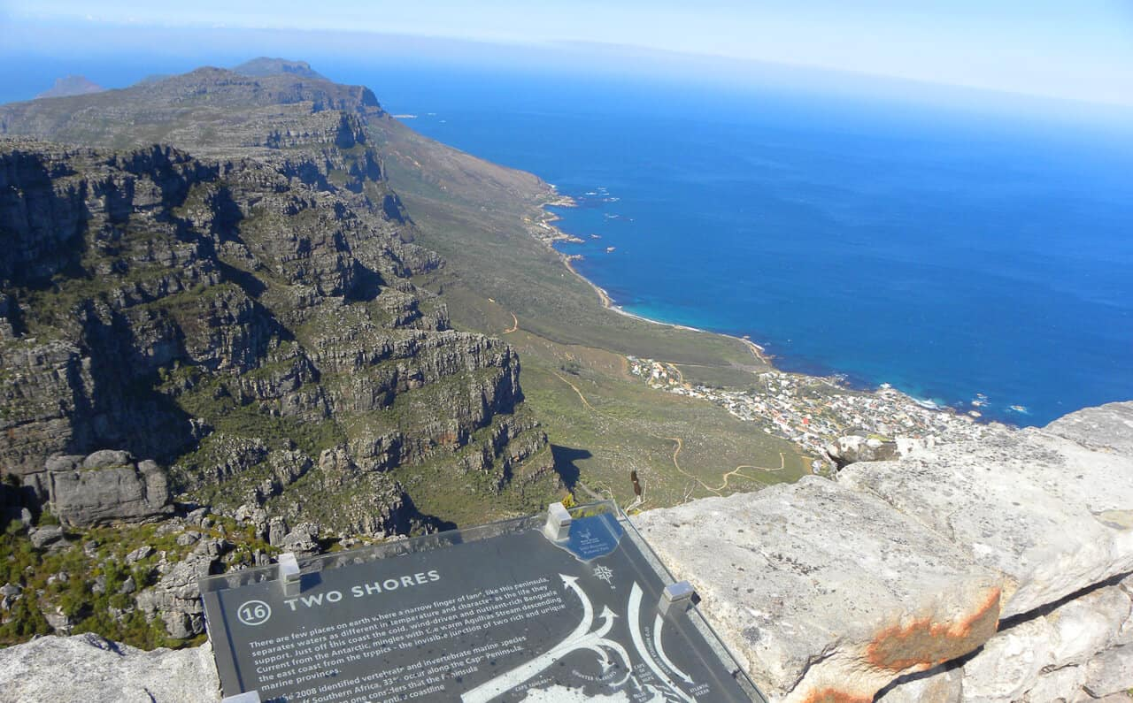 Views from Table Mountain. Hiking up the Twelve Apostles to Table Mountain, Cape Town