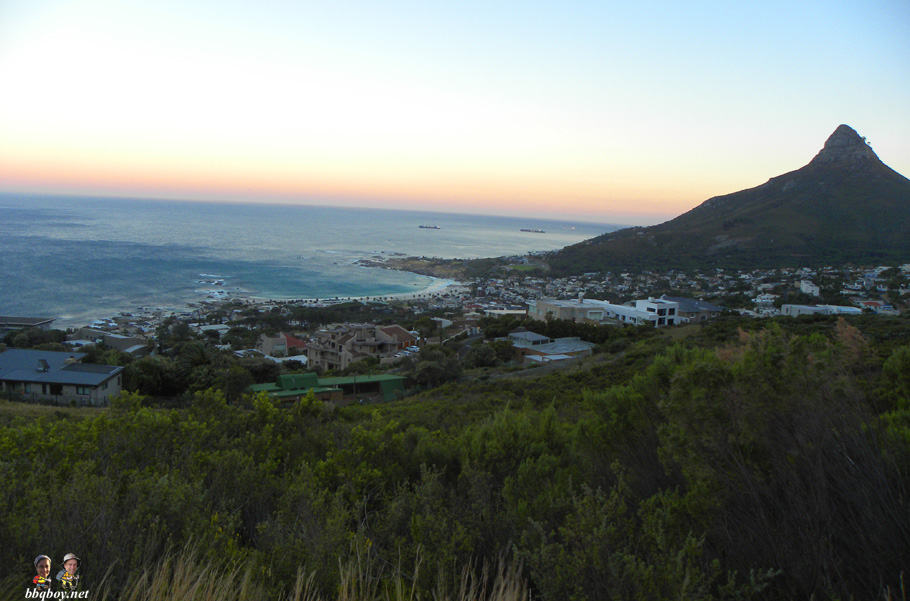 views over camps bay and lions head