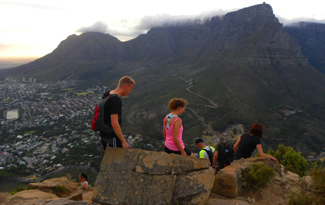 the top of Lion's head, Cape Town