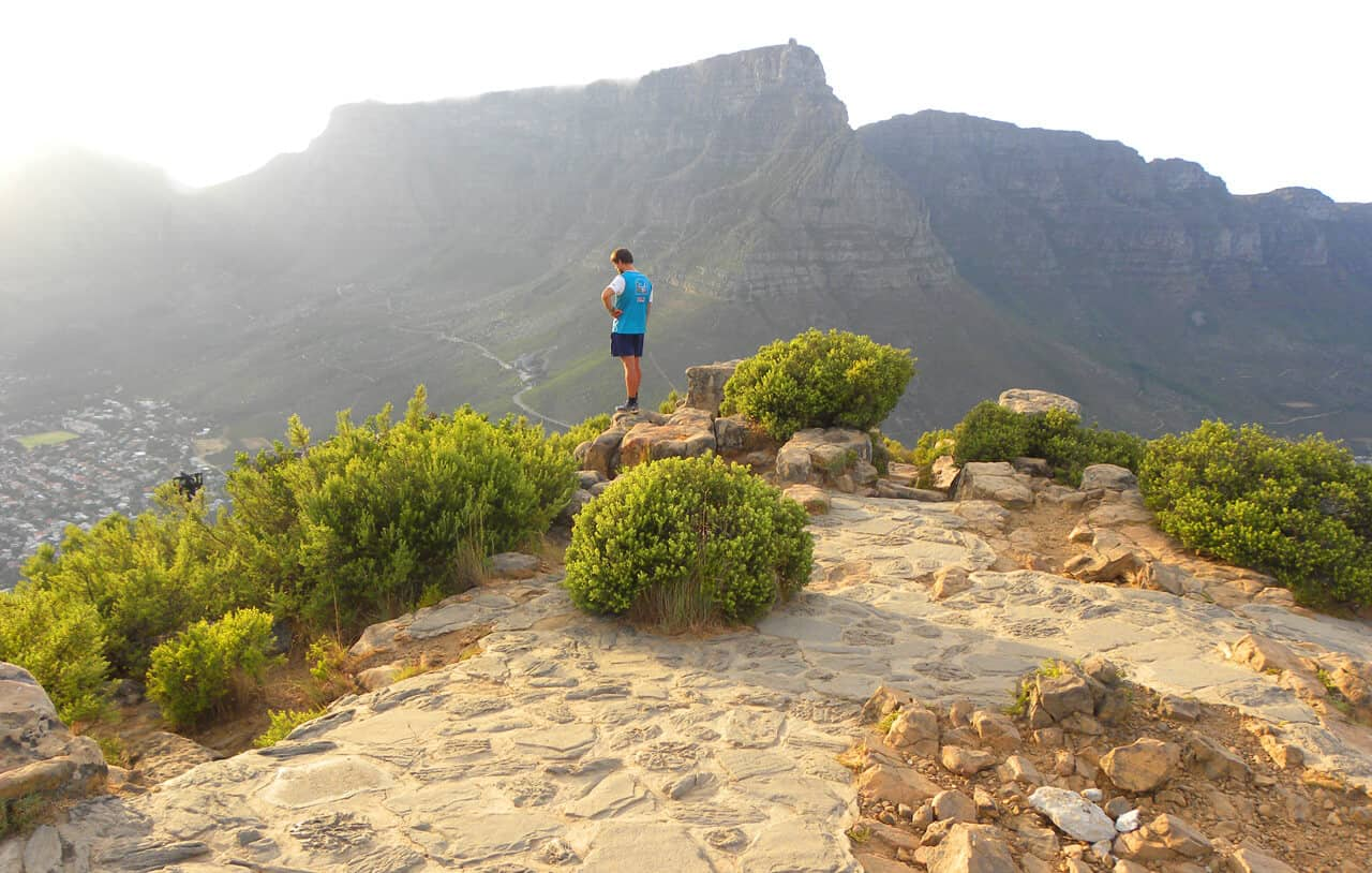 Views of Table mountain from Lion's head