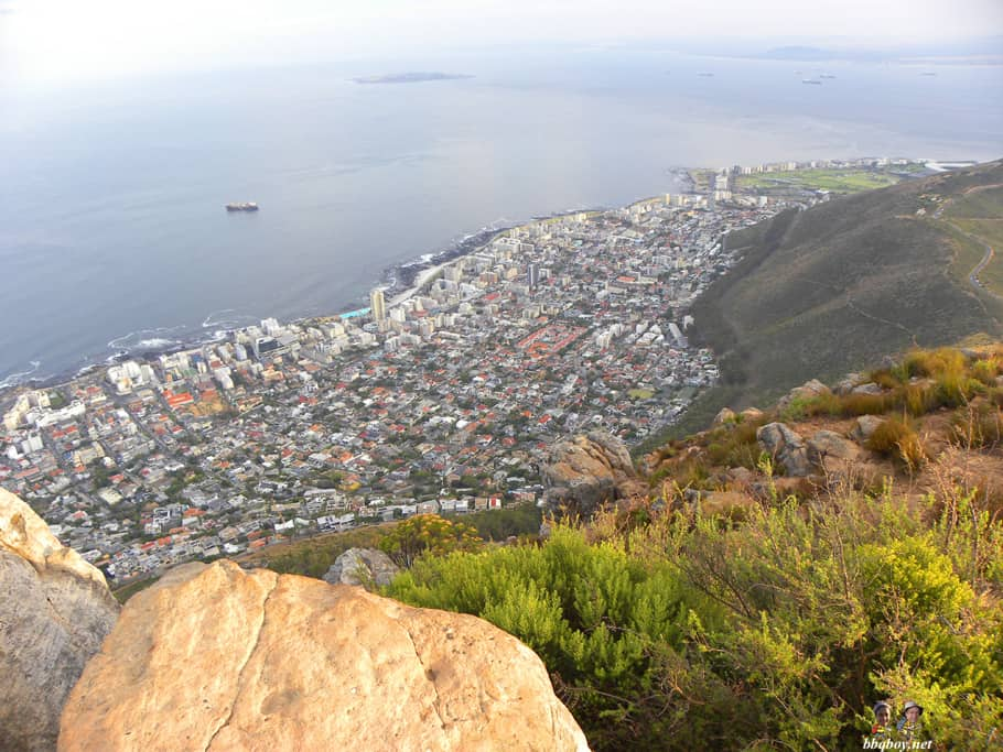 views of sea point from Lion's head, cape town