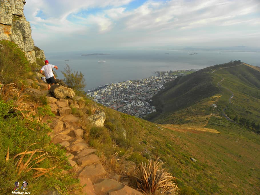 views of trail, Lion's head, cape town
