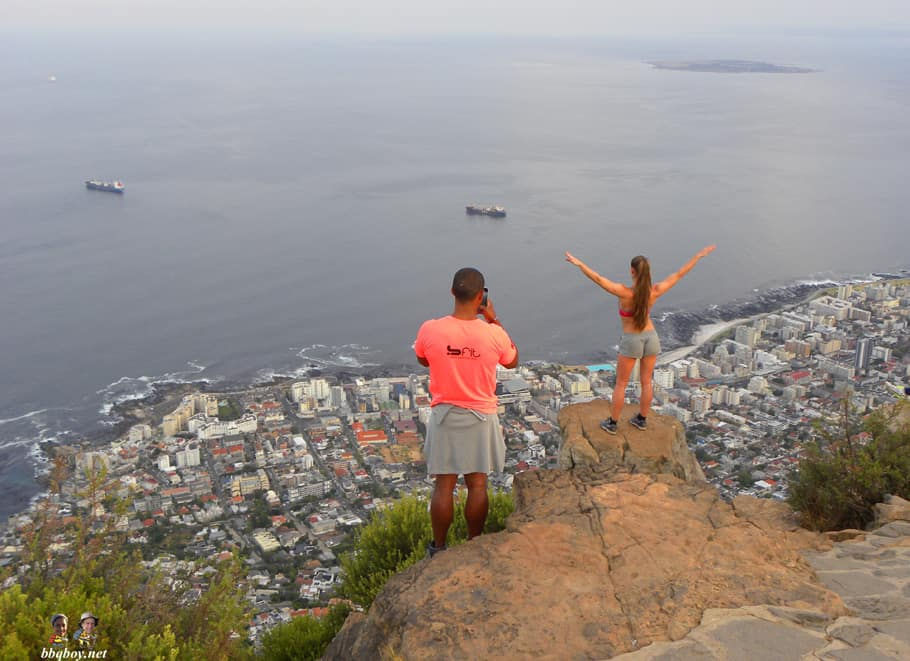 yoga girl on Lion's head, cape town