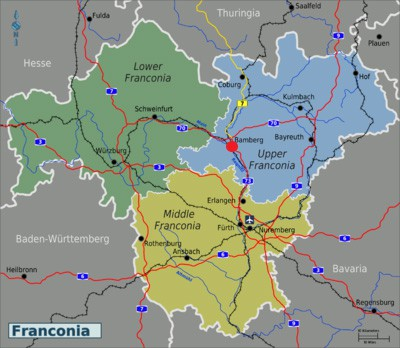 map of franconia