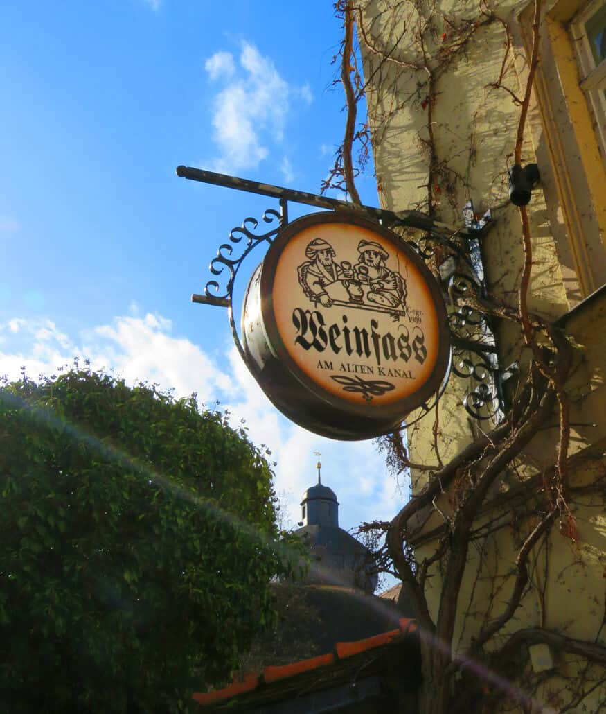Beer sign in Bamberg. Bamberg, Würzburg or Nuremberg?