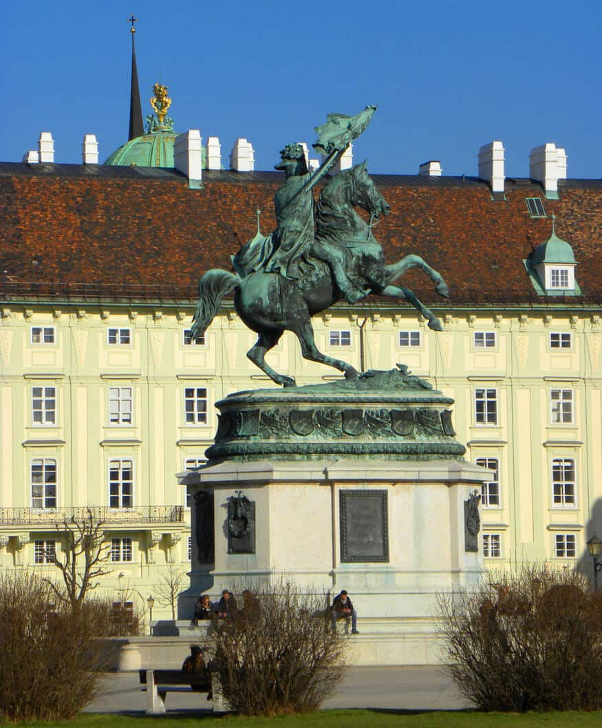 statue in the Hofburg. Why Vienna and Beyonce are kind of similar