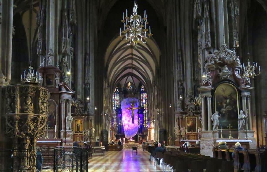 interior of the Stephansdom in Vienna, Austria