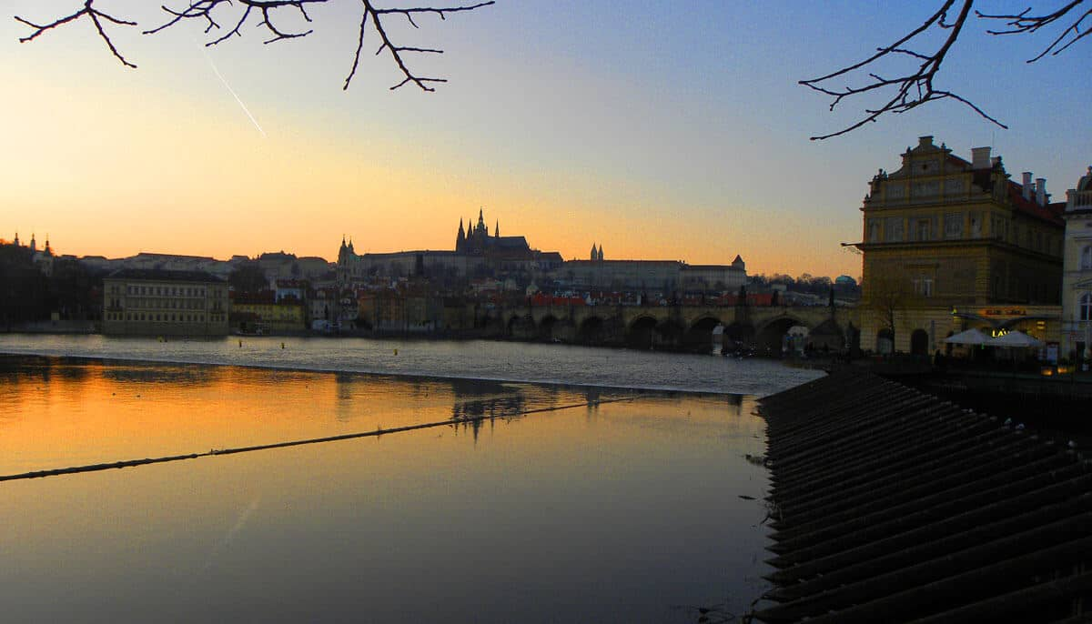 Sunset in Prague. Why we keep falling in love with Prague