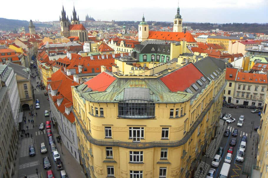 Views of Prague from the Powder Tower