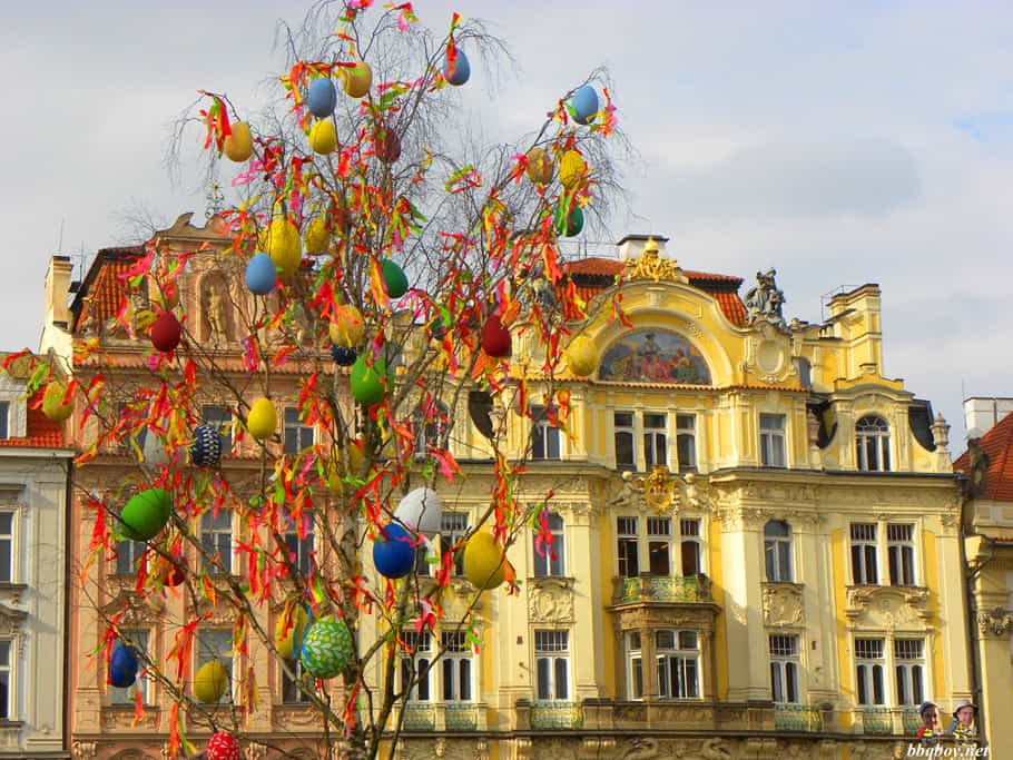 easter decorations in Prague