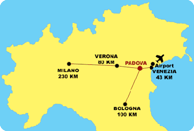 How we saved Big Bucks on Airbnb using Padua (Padova) as a base in the Veneto region. Map