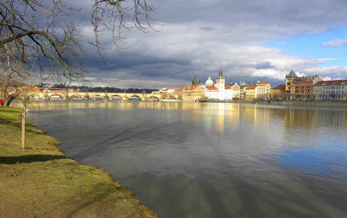 View from Shooter's Island, Prague