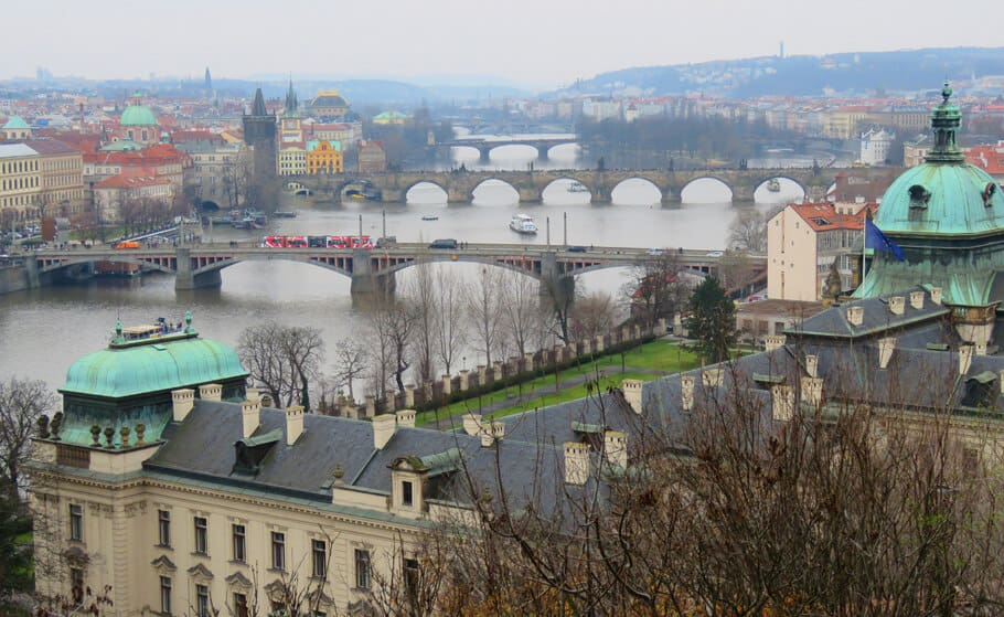 views of the river in Prague