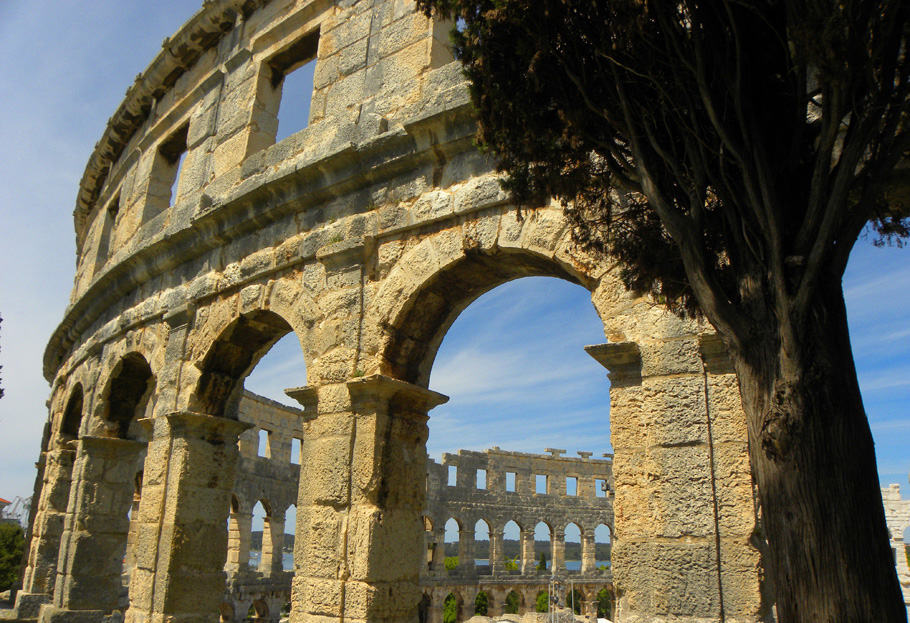 the Amphitheatre in Pula, Croatia