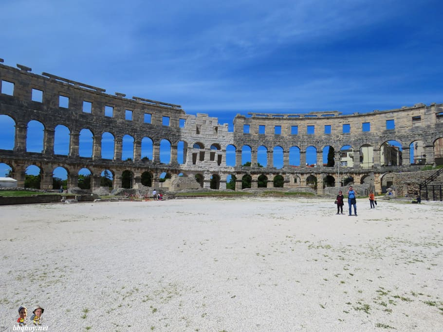 Amphitheatre in Pula, interior
