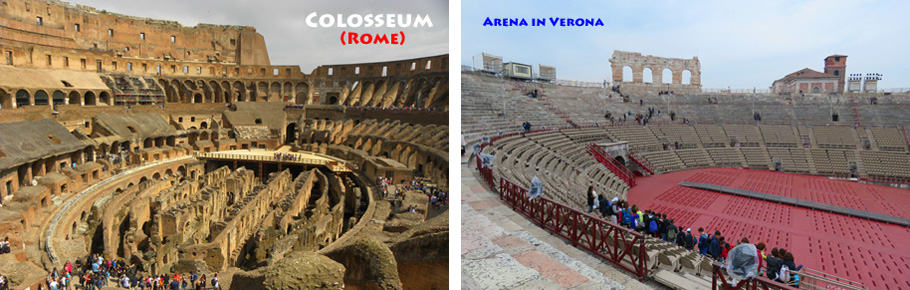 arenas in Italy interior. How Pula's Amphitheatre stacks up against other Roman arenas
