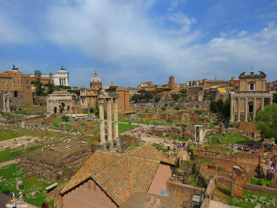 roman forum views from palatine hill