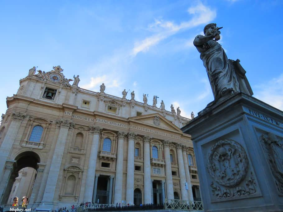 vatican City views on St. Peter's basilica