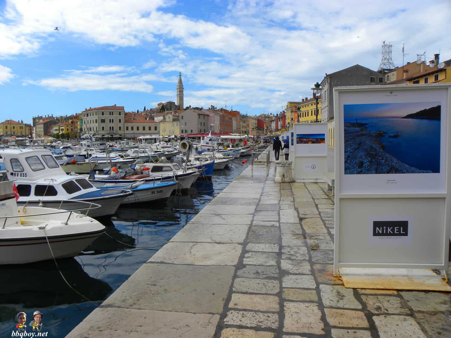 photo display, rovinj croatia
