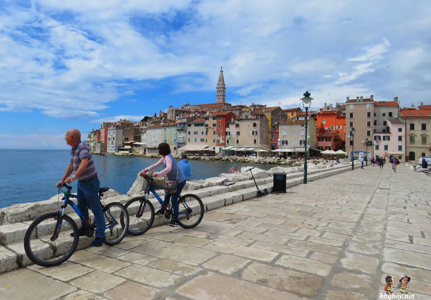 riding bike in rovinj croatia