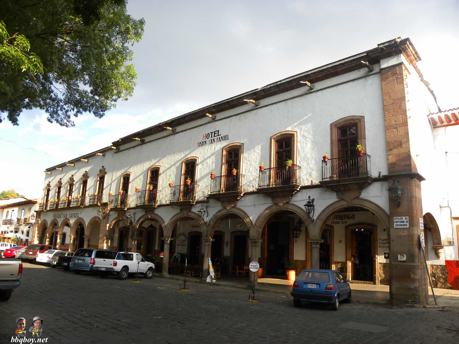 hotel on Plaza de Quiroga, Patzcuaro, mexico
