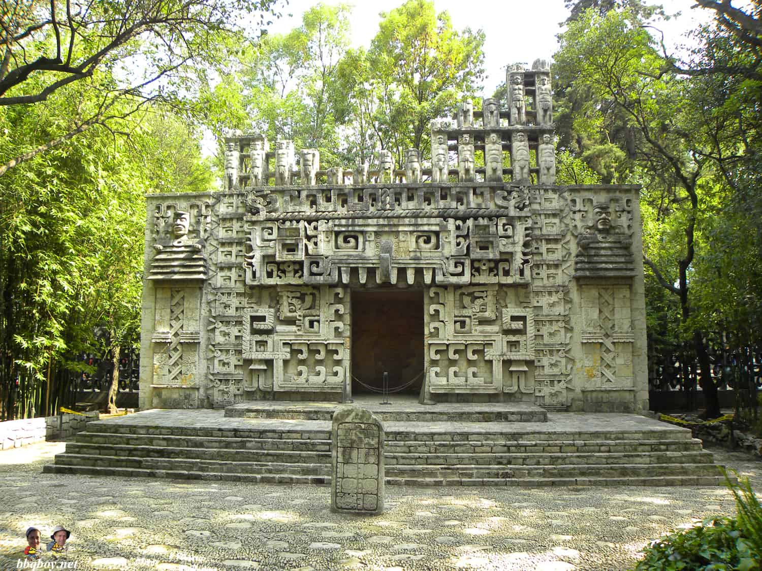 outdoor replica, National Museum of Anthropology, mexico city