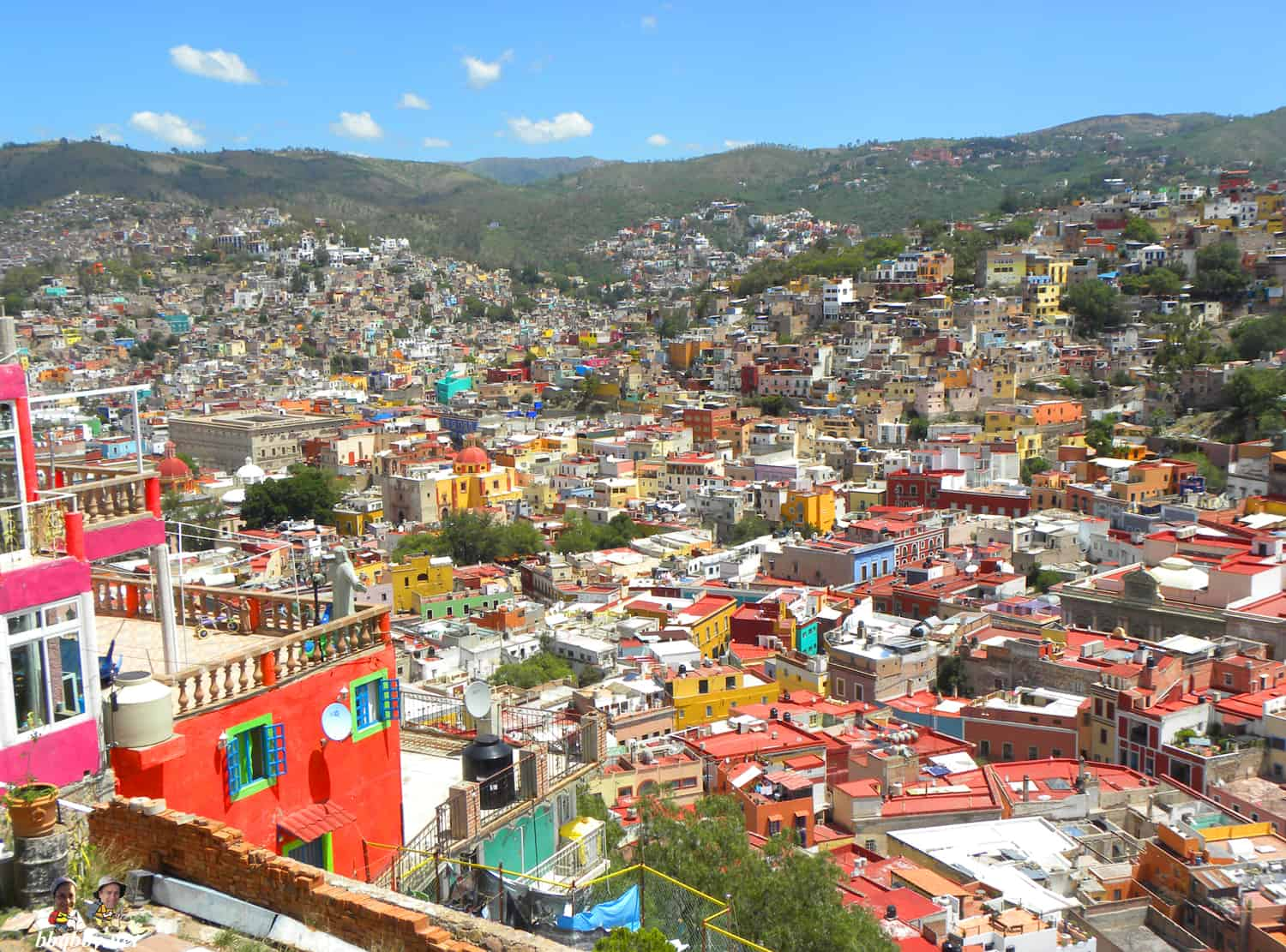 views from San Miguel hill over Guanajuato, Mexico