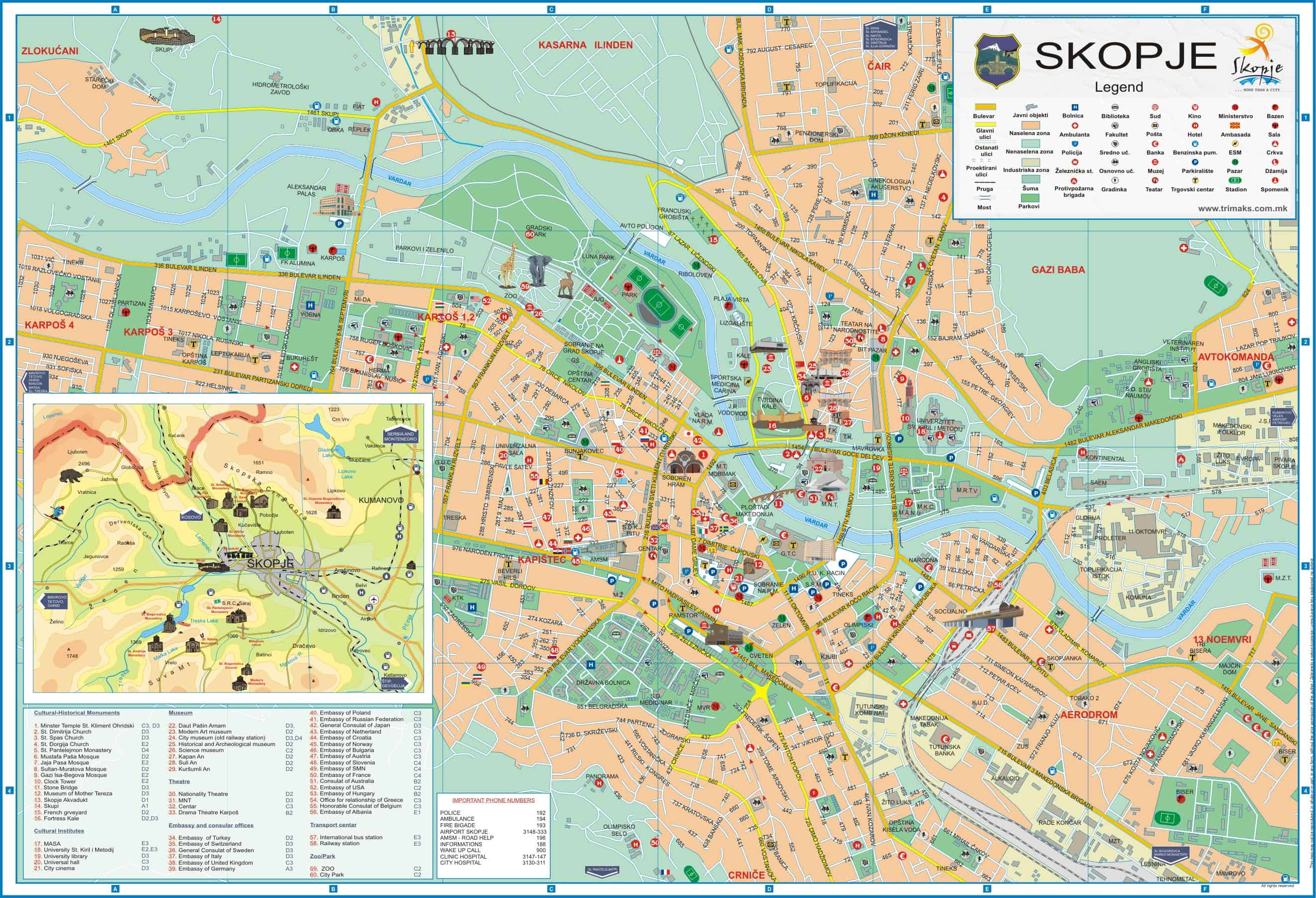 Skopje-Tourist-Map