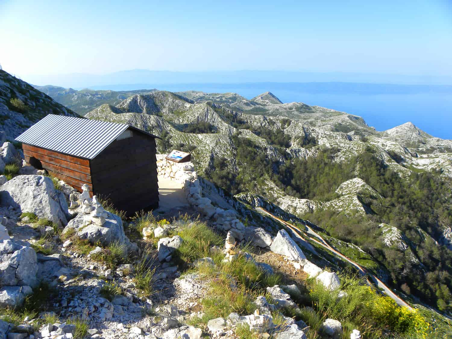 hut on Sv. Jure, 1 762 m, mt biokovo