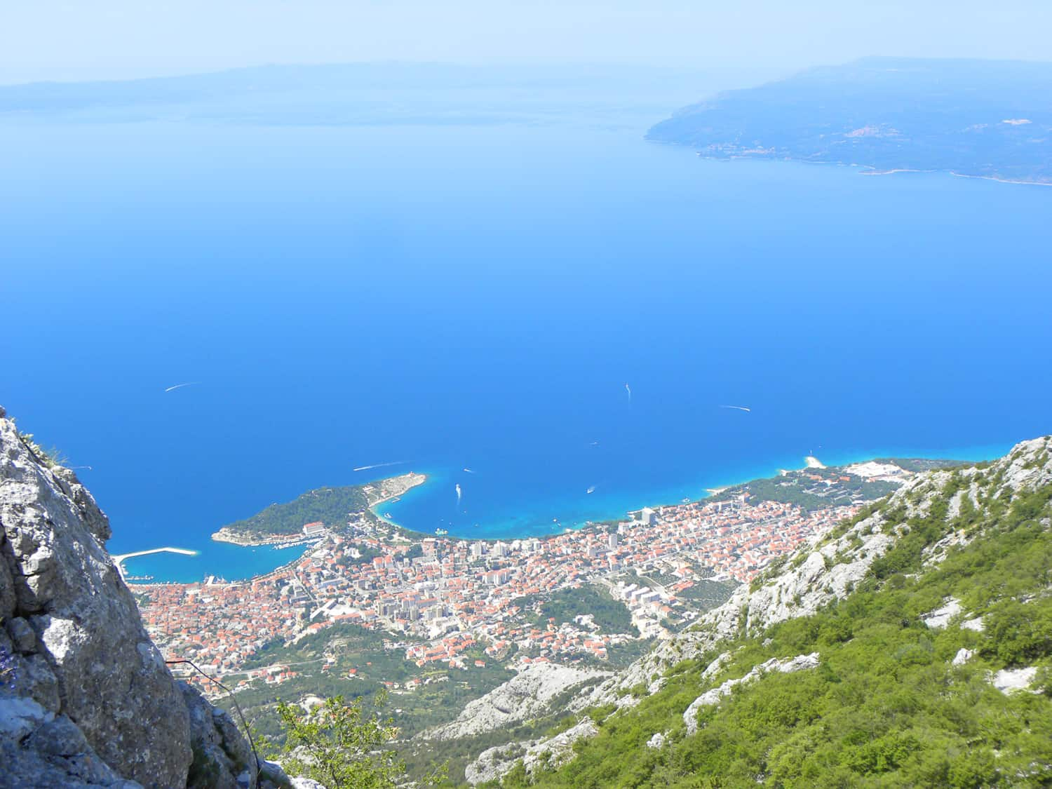 views of makarska from Štrbina (below Vošac), 1 338 m, mt. biokovo