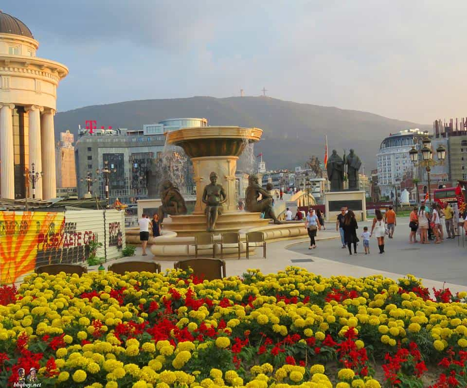 views on skopje, macedonia