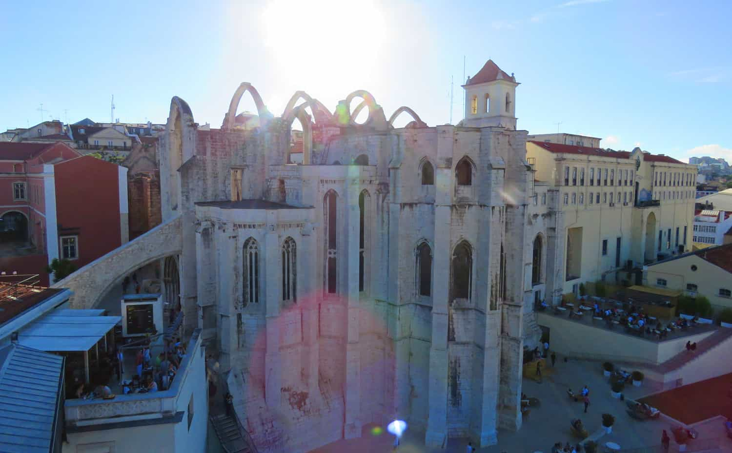 Carmo church. Photo Essay on Lisbon, Portugal. And why we were happy to leave…