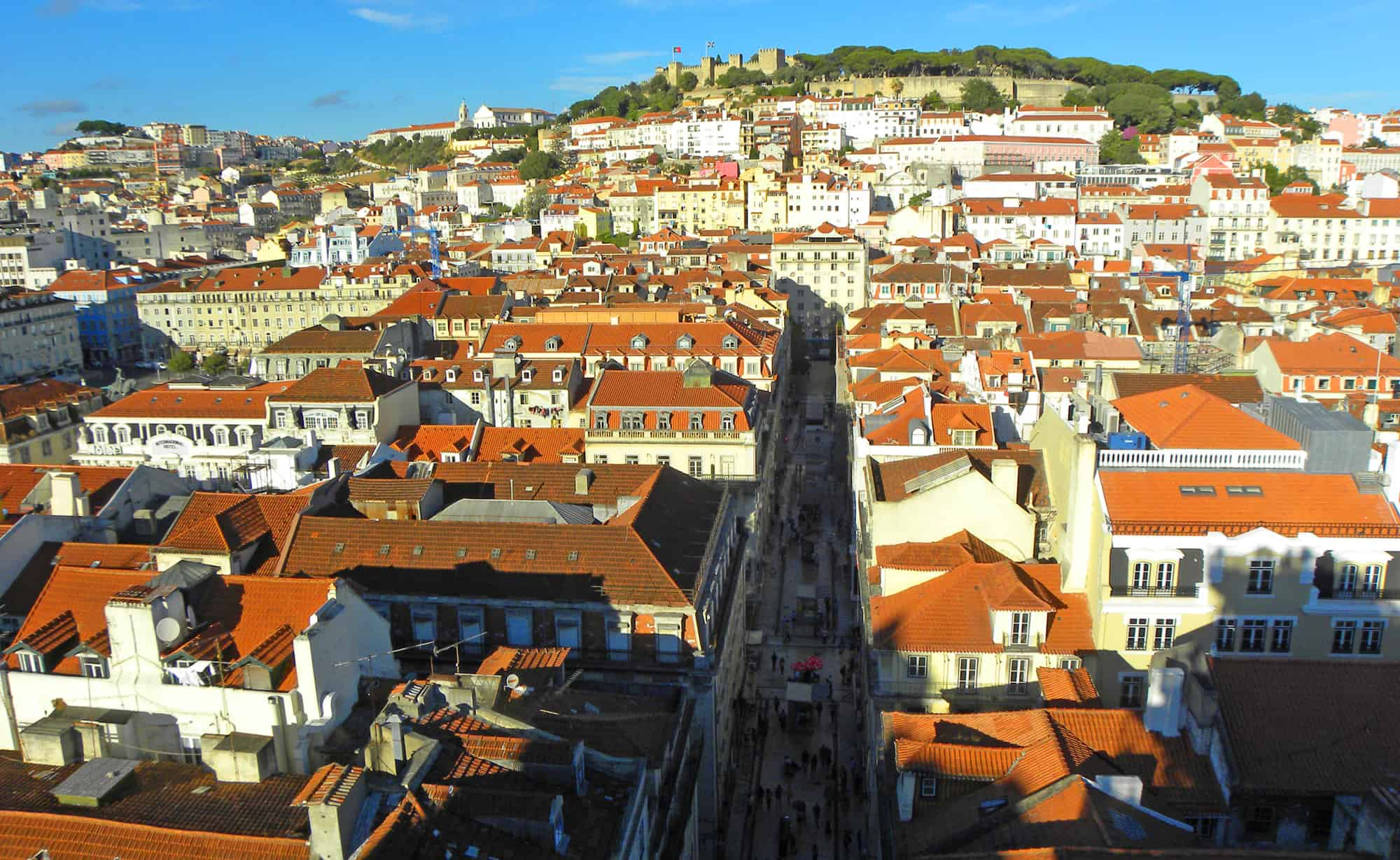 views from Elevador de Santa Justa. Photo Essay on Lisbon, Portugal. And why we were happy to leave…