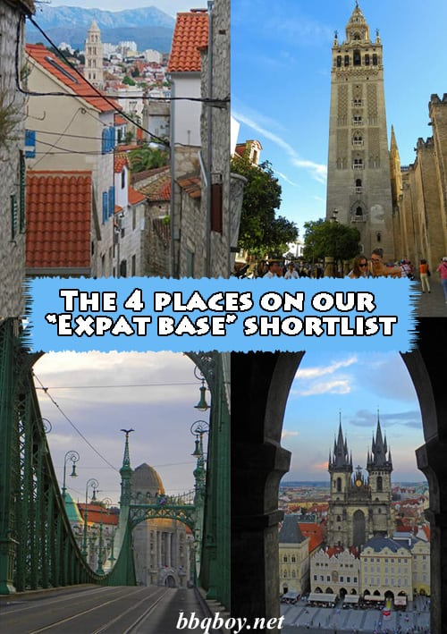 "The 4 places on our ""Expat base"" shortlist"