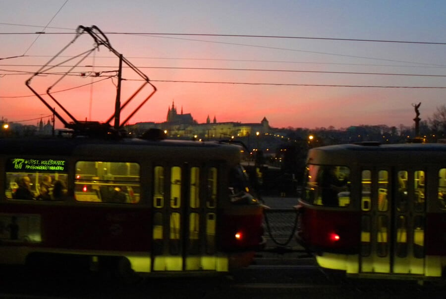 Prague sunset. Our Favorite Photos from a year of travel