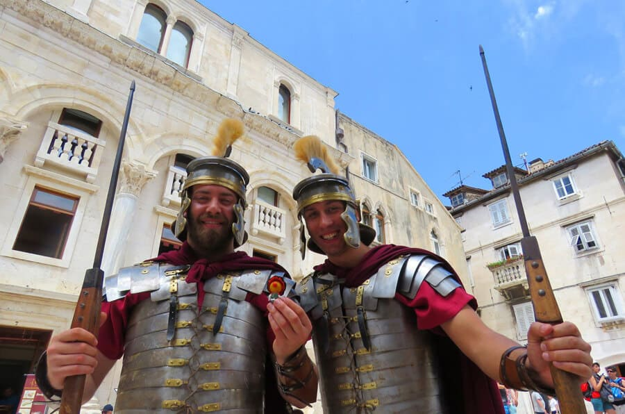 Roman guards in Split, Croatia. Our Favorite Photos from a year of travel