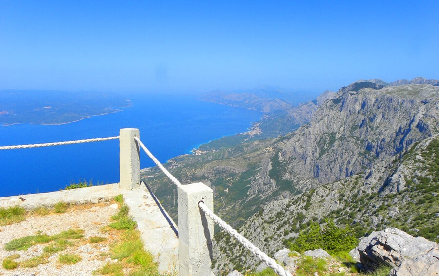 views from Mt. Biokovo. Our Favorite Photos from a year of travel
