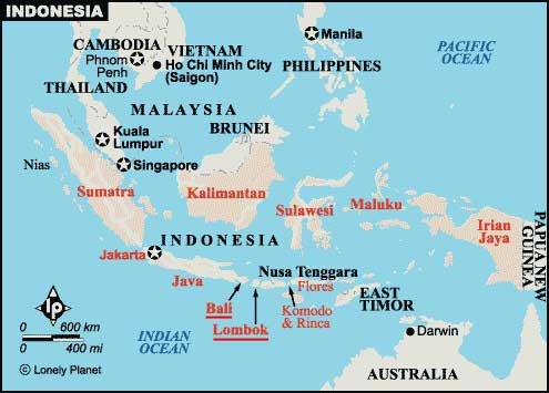travel Guide to the Best of Bali & Lombok. Map