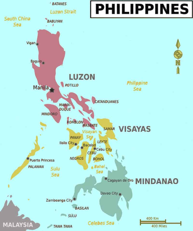 The Local's Guide to the Philippines. Where to Go and what to See. Map