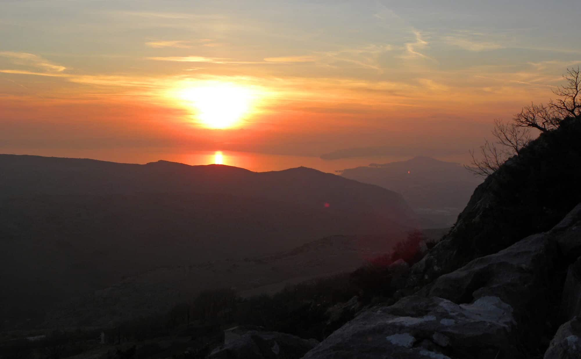 sunset views from Mosor mountain