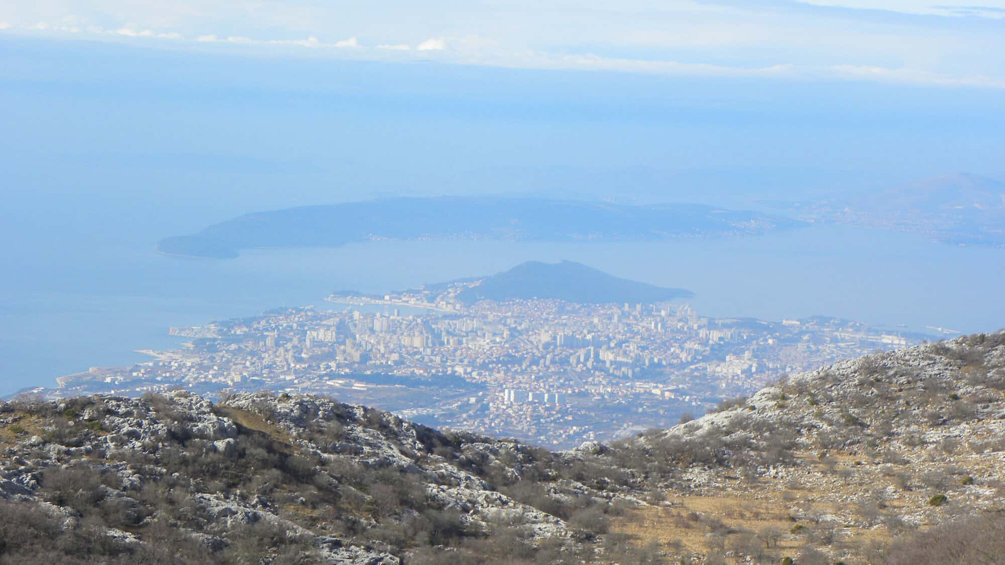 views of Split from Mosor.