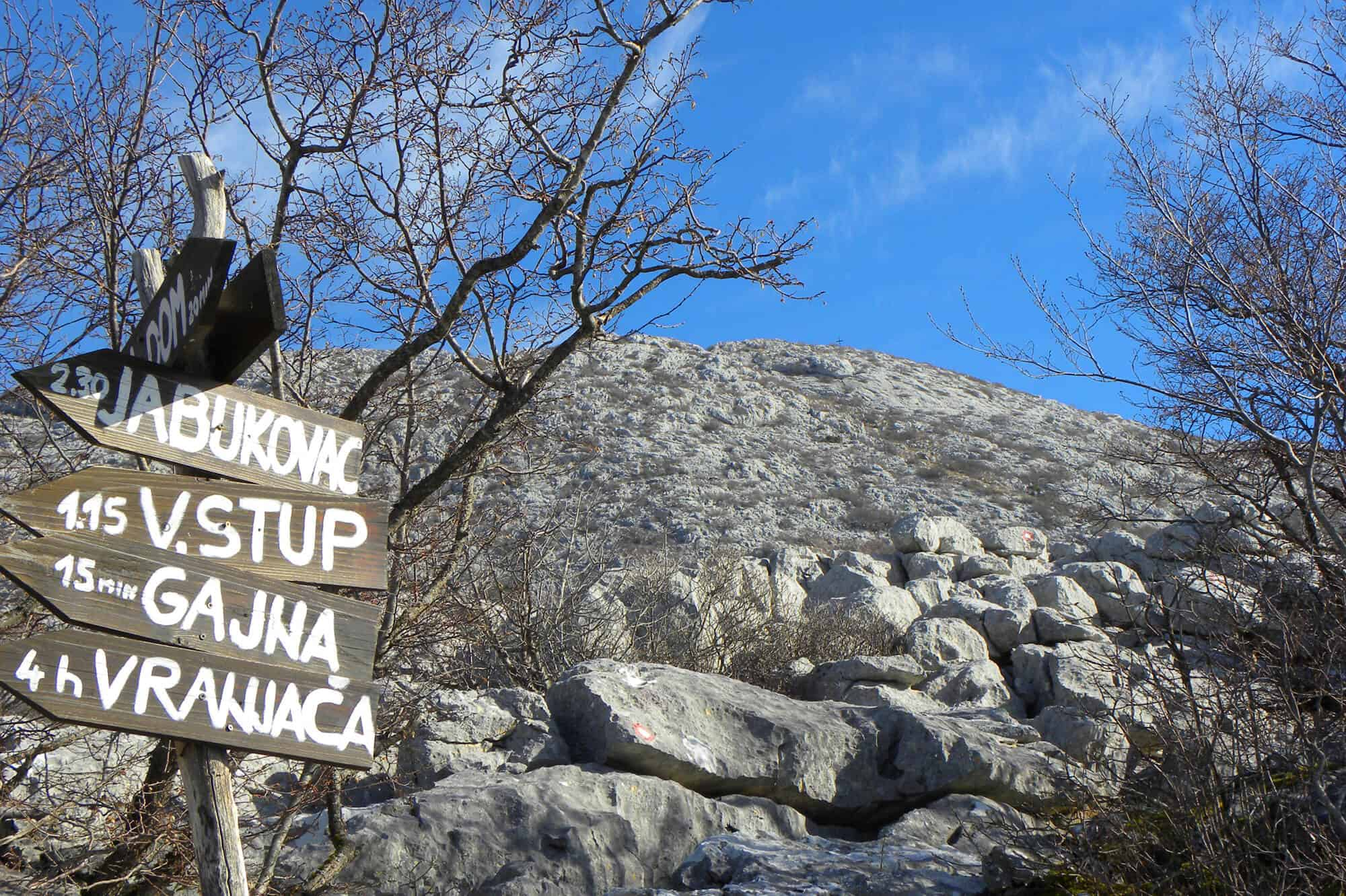 signs on Mosor Mountain