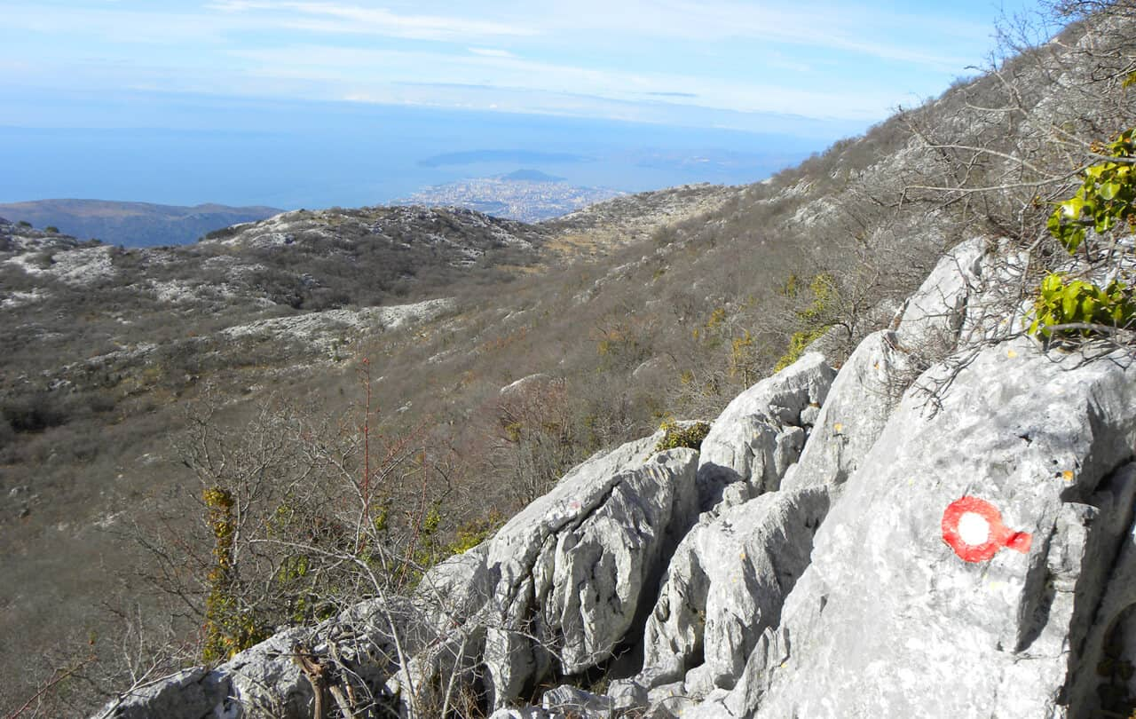 views of Split from Mosor
