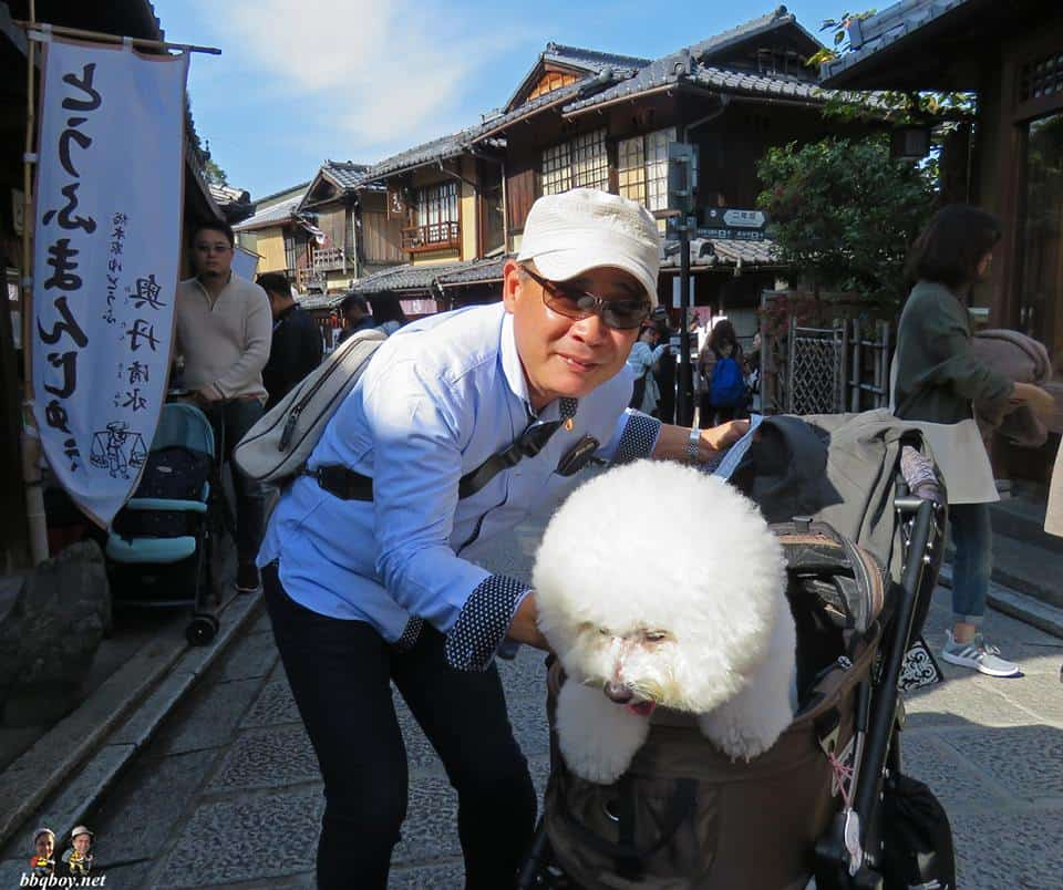 man and dog in tokoyama, Japan