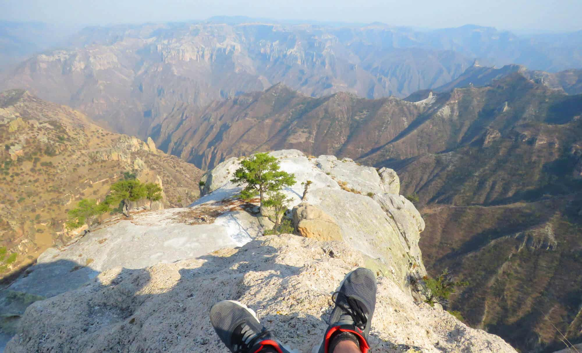 hiking and views of the copper canyon, Mexico