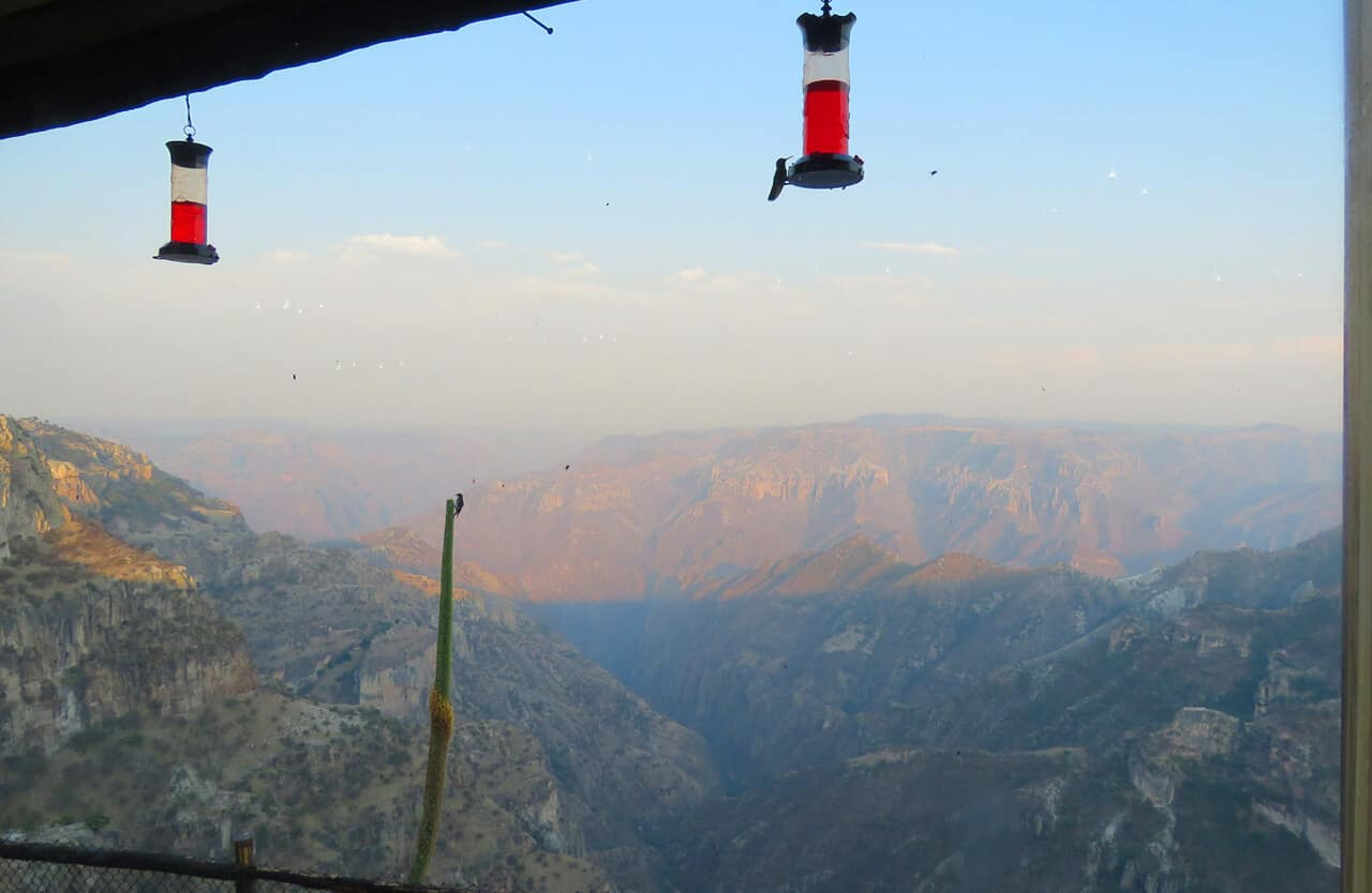 copper canyon, views from hotel