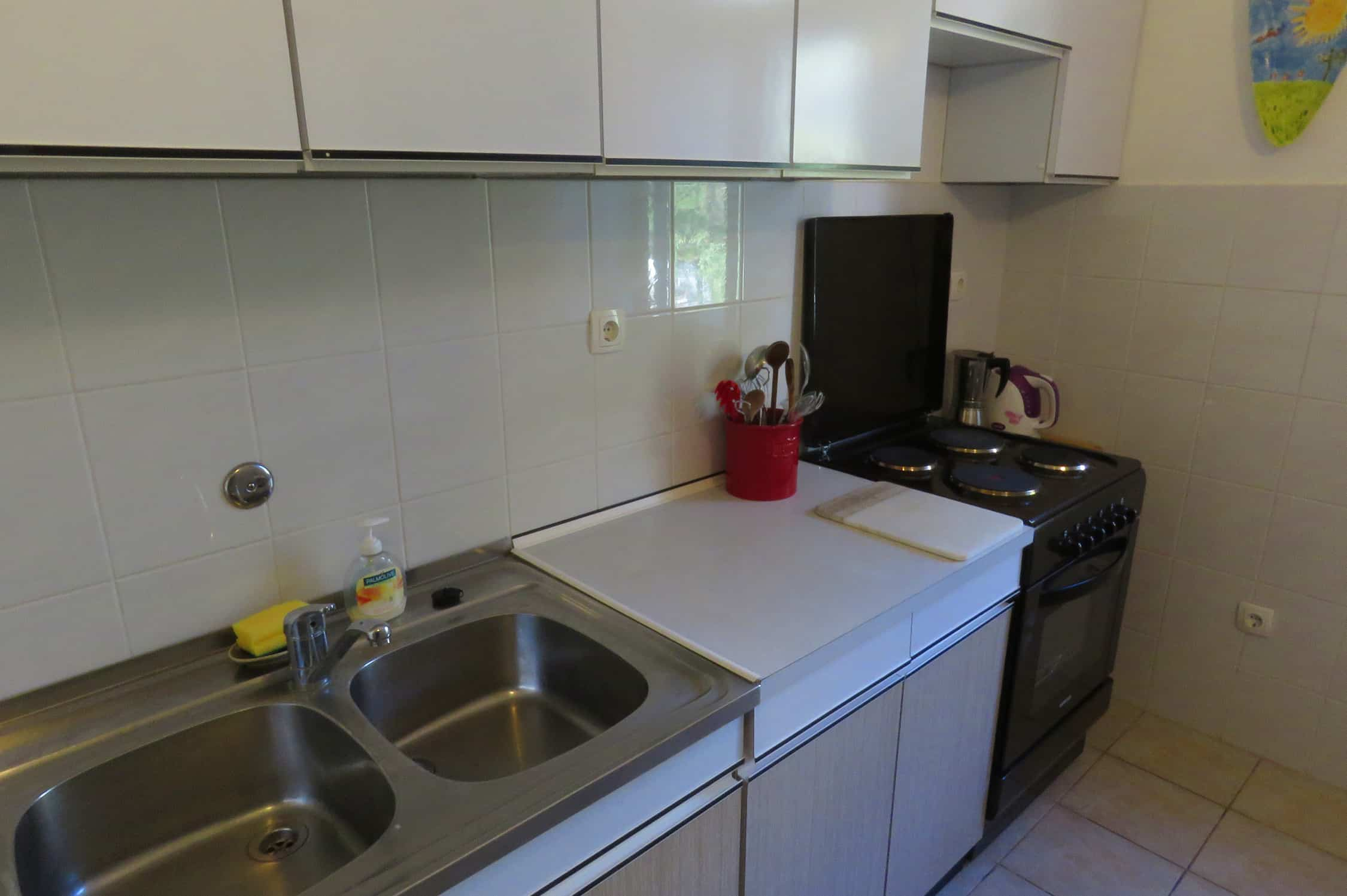kitchen of our apartment in Split Croatia