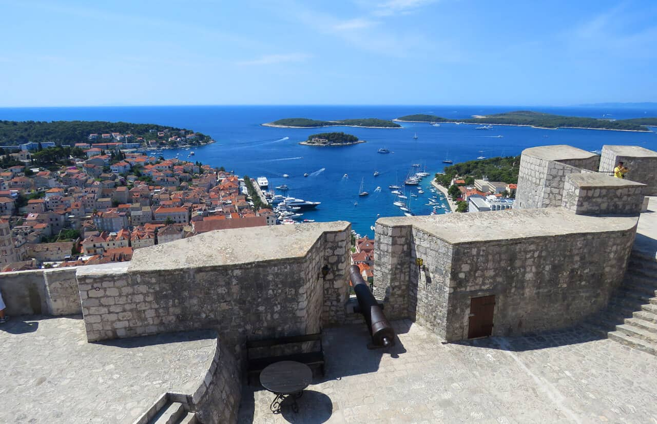 views from fortress in Hvar town, Croatia